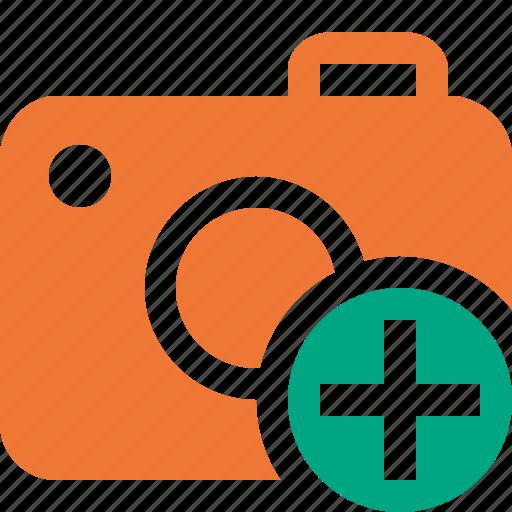 add, camera, photo, photocamera, photography, picture, snapshot icon