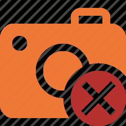 camera, cancel, photo, photocamera, photography, picture, snapshot icon