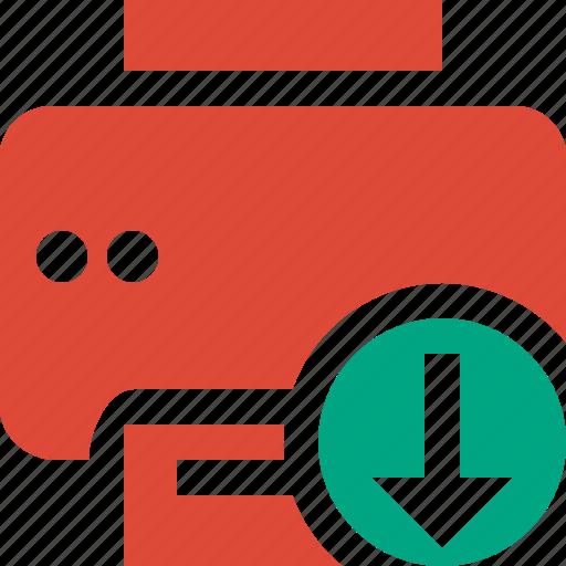 document, download, paper, print, printer, printing icon