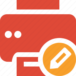 document, edit, paper, print, printer, printing icon