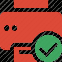 document, ok, paper, print, printer, printing icon