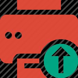 document, paper, print, printer, printing, upload icon