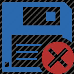 backup, cancel, data, disk, download, file, save icon