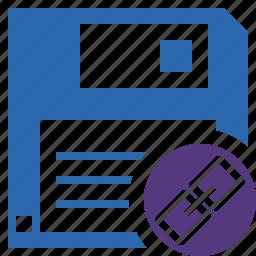backup, data, disk, download, file, guardar, link, save icon