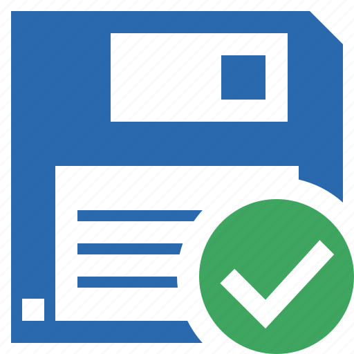 backup, data, disk, download, file, guardar, ok, save icon
