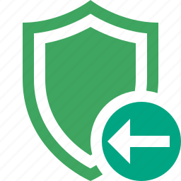 previous, protection, safety, secure, security, shield icon