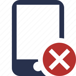 cancel, device, iphone, mobile, phone, smartphone icon