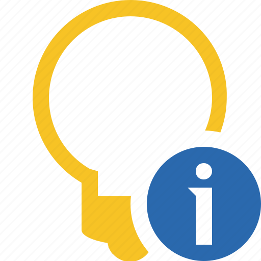 bulb, idea, information, light, tip icon