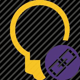 bulb, idea, light, link, tip icon