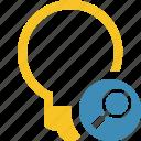 bulb, idea, light, search, tip icon