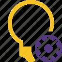 bulb, idea, light, settings, tip icon