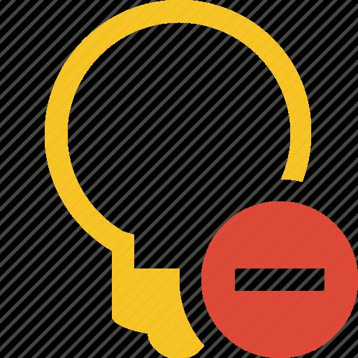 bulb, idea, light, stop, tip icon