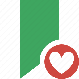 book, bookmark, favorite, favorites, green, tag icon
