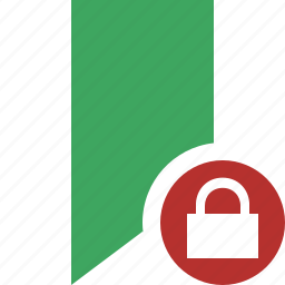 book, bookmark, favorite, green, lock, tag icon