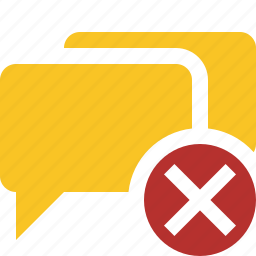 bubble, cancel, chat, communication, message, talk icon