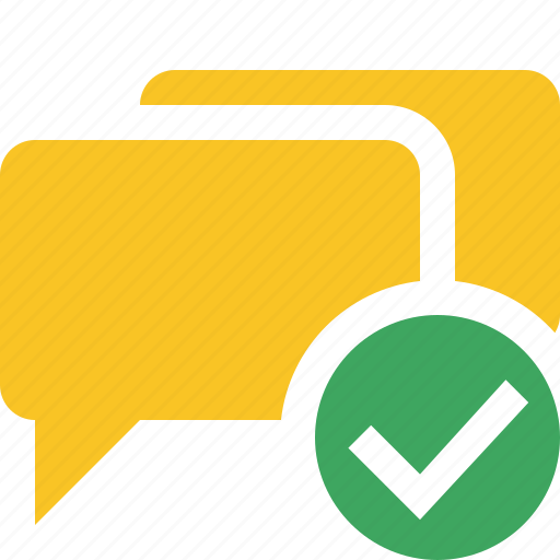bubble, chat, communication, message, ok, talk icon