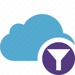 blue, cloud, filter, network, storage, weather icon