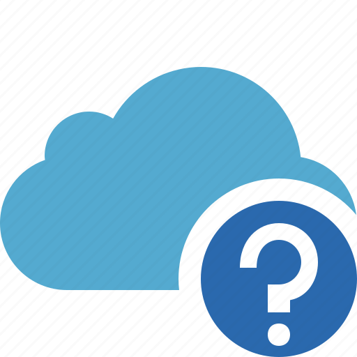 blue, cloud, help, network, storage, weather icon