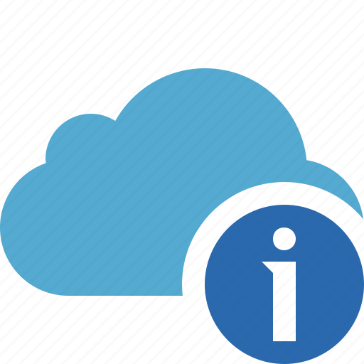 blue, cloud, information, network, storage, weather icon