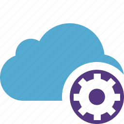blue, cloud, network, settings, storage, weather icon