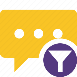 bubble, chat, comment, filter, message, talk icon