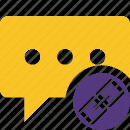 bubble, chat, comment, link, message, talk icon