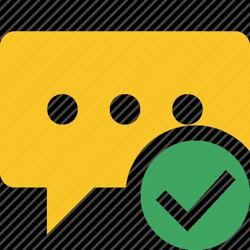 bubble, chat, comment, message, ok, talk icon