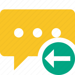 bubble, chat, comment, message, previous, talk icon