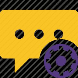 bubble, chat, comment, message, settings, talk icon