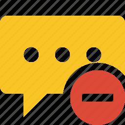 bubble, chat, comment, message, stop, talk icon