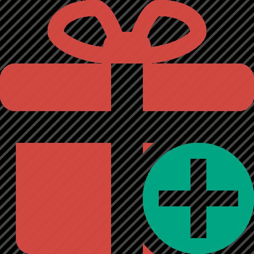 add, box, christmas, gift, present, xmas icon
