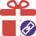 box, christmas, gift, link, present, xmas