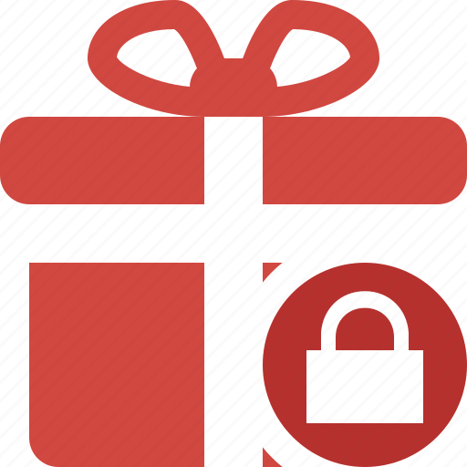 box, christmas, gift, lock, present, xmas icon