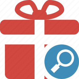 box, christmas, gift, present, search, xmas icon