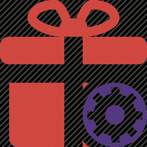 box, christmas, gift, present, settings, xmas icon