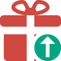 box, christmas, gift, present, upload, xmas icon