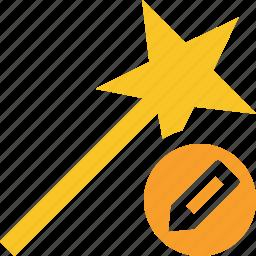 edit, magic, tool, wand, wizard icon