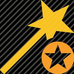 magic, star, tool, wand, wizard icon