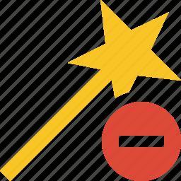 magic, stop, tool, wand, wizard icon