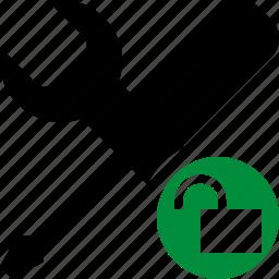 options, preferences, settings, tools, unlock icon