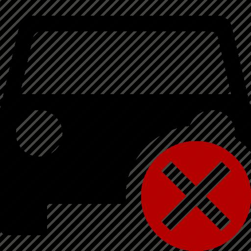 auto, cancel, car, traffic, transport, vehicle icon