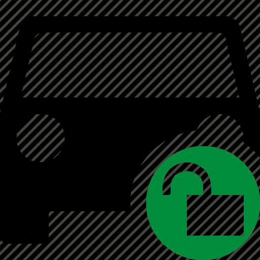 auto, car, traffic, transport, unlock, vehicle icon