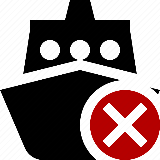 cancel, cruise, sea, ship, transport, travel, vessel icon