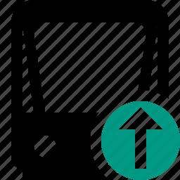 public, train, tram, tramway, transport, upload icon