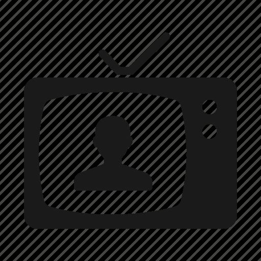 news, presenter, television, tv icon