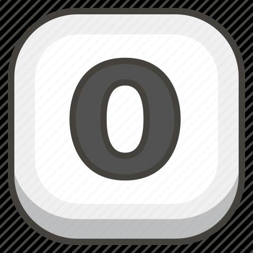 0, keycap icon