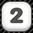 2, keycap icon