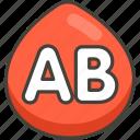 1f18e, ab, b, blood, button, type icon