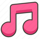 1f3b5, a, musical, note icon