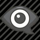 1f441, bubble, eye, in, speech